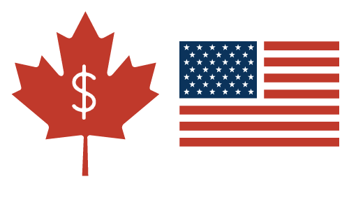Canadian dollars to US dollars