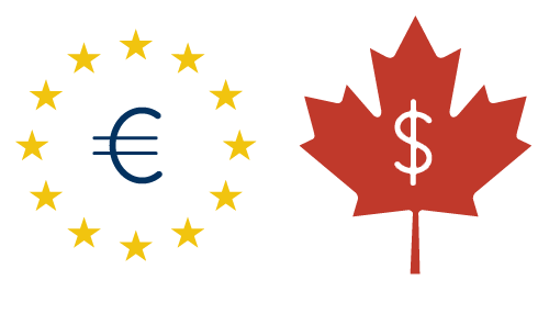 Euro to Canadian dollars